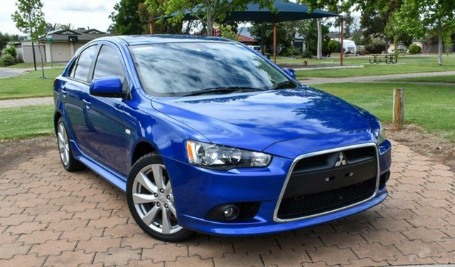 Used Mitsubishi Lancer CJ MY14.5 GSR Sportback Ingle Farm, 2014 Mitsubishi Lancer CJ MY14.5 GSR Sportback Blue 5 Speed Manual Hatchback
