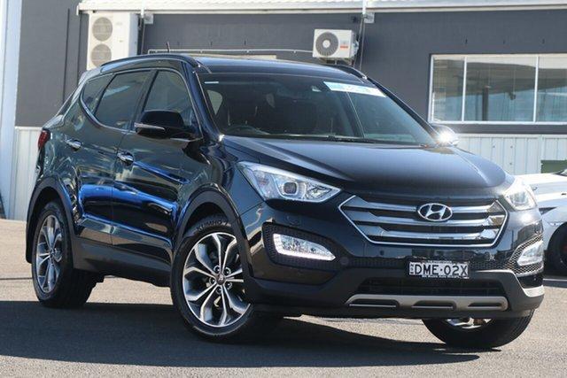 Used Hyundai Santa Fe DM2 MY15 Highlander Brookvale, 2014 Hyundai Santa Fe DM2 MY15 Highlander Black 6 Speed Sports Automatic Wagon