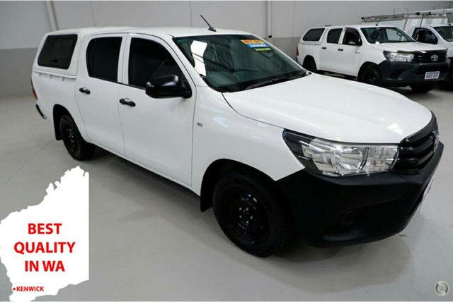 Used Toyota Hilux TGN121R Workmate Double Cab 4x2 Kenwick, 2015 Toyota Hilux TGN121R Workmate Double Cab 4x2 White 6 Speed Sports Automatic Utility