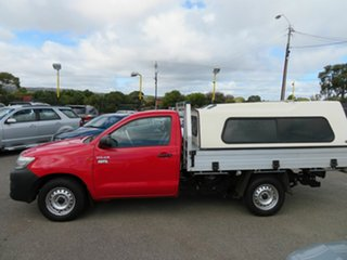 2013 Toyota Hilux TGN16R MY14 Workmate Red 5 Speed Manual Cab Chassis