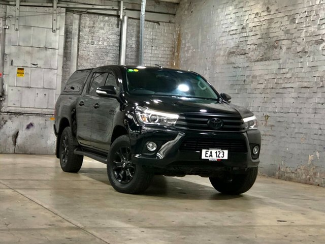 Used Toyota Hilux GUN126R SR5 Double Cab Mile End South, 2017 Toyota Hilux GUN126R SR5 Double Cab Black 6 Speed Sports Automatic Utility