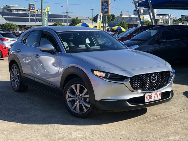 Used Mazda CX-30 DM2WLA G25 SKYACTIV-Drive Touring Chermside, 2019 Mazda CX-30 DM2WLA G25 SKYACTIV-Drive Touring Silver 6 Speed Sports Automatic Wagon