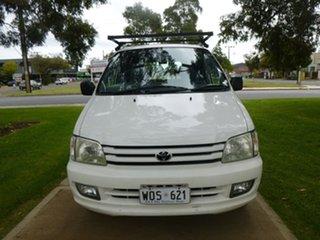 1998 Toyota Spacia SR40R White Automatic Wagon.