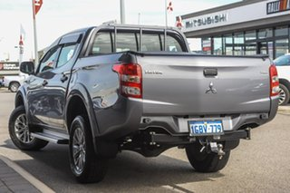 2016 Mitsubishi Triton MQ MY17 GLX Double Cab Grey 6 Speed Manual Utility.