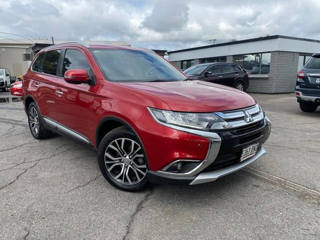 Used Mitsubishi Outlander ZK MY17 Exceed 4WD Hillcrest, 2016 Mitsubishi Outlander ZK MY17 Exceed 4WD Red 6 Speed Constant Variable Wagon