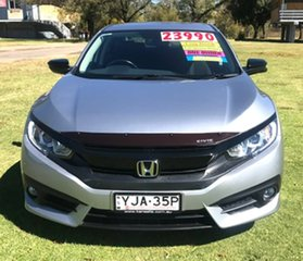 2016 Honda Civic 10th Gen MY16 VTi-L Silver 1 Speed Constant Variable Sedan.
