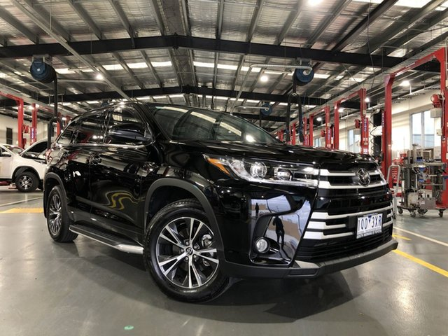 Pre-Owned Toyota Kluger GSU50R GX 2WD Oakleigh, 2019 Toyota Kluger GSU50R GX 2WD Eclipse Black 8 Speed Sports Automatic Wagon