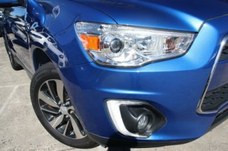 2014 Mitsubishi ASX XB MY15 XLS (2WD) Blue Continuous Variable Wagon.