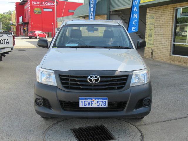 Used Toyota Hilux KUN26R SR Mandurah, 2013 Toyota Hilux KUN26R SR Silver 5 Speed Manual Cab Chassis