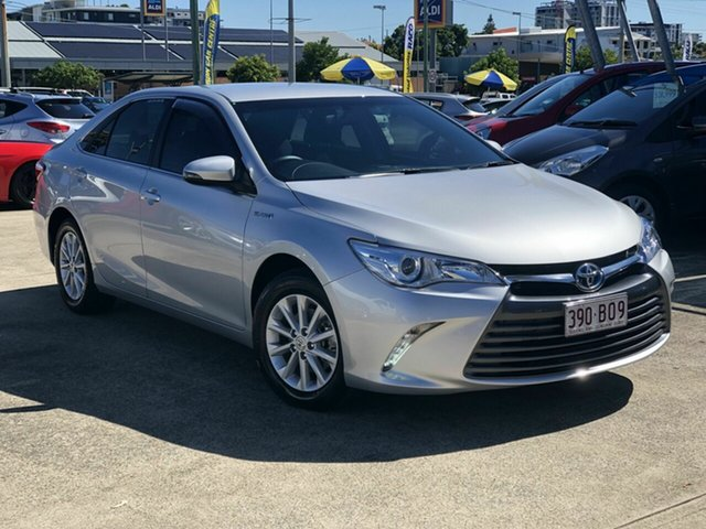Used Toyota Camry AVV50R Altise Chermside, 2016 Toyota Camry AVV50R Altise Silver 1 Speed Constant Variable Sedan Hybrid