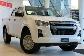 2021 Isuzu D-MAX RG MY21 SX Crew Cab Mineral White 6 Speed Sports Automatic Utility.