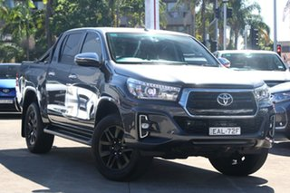 2018 Toyota Hilux GUN126R MY19 SR5+ (4x4) Graphite 6 Speed Manual Double Cab Pick Up.