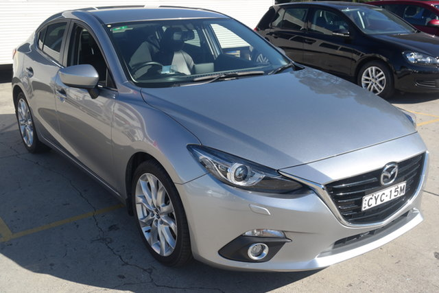 Used Mazda 3 BM5238 SP25 SKYACTIV-Drive GT Maryville, 2015 Mazda 3 BM5238 SP25 SKYACTIV-Drive GT Silver 6 Speed Sports Automatic Sedan