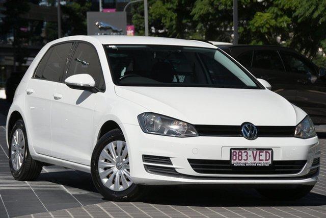 Used Volkswagen Golf VII MY14 90TSI DSG Newstead, 2014 Volkswagen Golf VII MY14 90TSI DSG White 7 Speed Sports Automatic Dual Clutch Hatchback