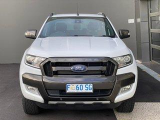 2017 Ford Ranger PX MkII Wildtrak Double Cab White 6 Speed Manual Utility.