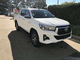 2018 Toyota Hilux GUN126R SR5 Double Cab Glacier 6 speed Automatic Utility.