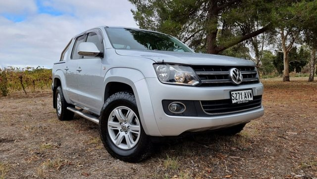 Used Volkswagen Amarok 2H MY13 TDI420 4Motion Perm Highline Nuriootpa, 2013 Volkswagen Amarok 2H MY13 TDI420 4Motion Perm Highline Silver 8 Speed Automatic Utility