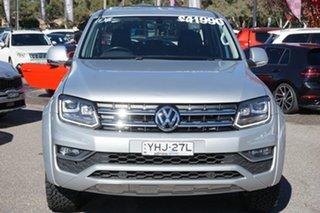 2017 Volkswagen Amarok 2H MY17 TDI550 4MOTION Perm Highline Silver 8 Speed Automatic Utility.
