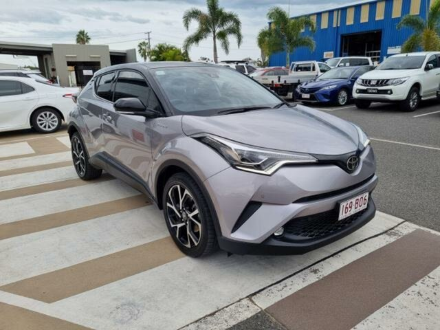 Pre-Owned Toyota C-HR Gladstone, 2019 Toyota C-HR Shadow Platinum & Black Roof Wagon
