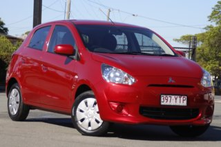 2013 Mitsubishi Mirage LA MY14 ES Planet Red 1 Speed Constant Variable Hatchback.