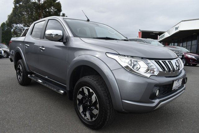 Used Mitsubishi Triton MQ MY16 Exceed Double Cab Wantirna South, 2016 Mitsubishi Triton MQ MY16 Exceed Double Cab Grey 5 Speed Sports Automatic Utility