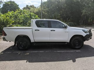 2017 Toyota Hilux GUN126R SR Double Cab White 6 Speed Sports Automatic Utility.