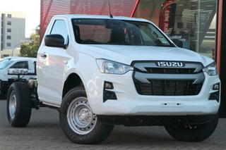 2021 Isuzu D-MAX RG MY21 SX (4x2) Mineral White 6 Speed Manual Cab Chassis.