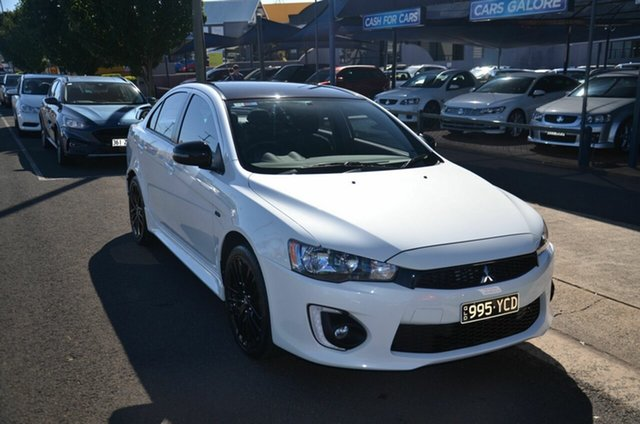 Used Mitsubishi Lancer CF MY17 Black Edition (es) Toowoomba, 2017 Mitsubishi Lancer CF MY17 Black Edition (es) White 6 Speed CVT Auto Sequential Sedan