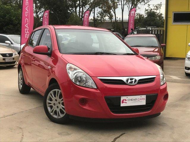 Used Hyundai i20 PB MY12 Active Toowoomba, 2012 Hyundai i20 PB MY12 Active Red 4 Speed Automatic Hatchback