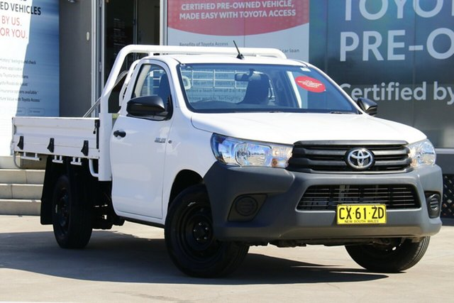 Pre-Owned Toyota Hilux TGN121R Workmate 4x2 Guildford, 2016 Toyota Hilux TGN121R Workmate 4x2 Glacier White 6 Speed Automatic Cab Chassis