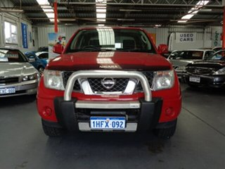 2010 Nissan Navara D40 ST Red 5 Speed Automatic Utility.