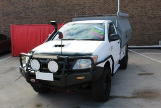 2007 Toyota Hilux KUN26R 06 Upgrade SR (4x4) White 5 Speed Manual Cab Chassis.