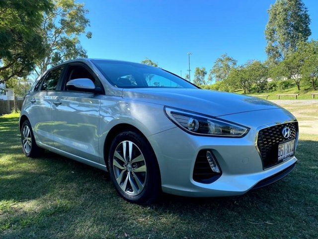 Used Hyundai i30 PD MY18 Active Mount Gravatt, 2017 Hyundai i30 PD MY18 Active Platinum Silver 6 Speed Sports Automatic Hatchback