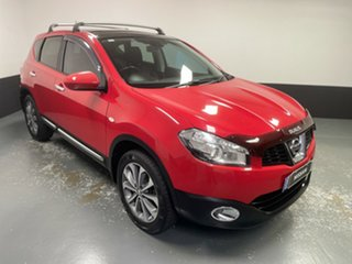 2010 Nissan Dualis J10 MY2009 Ti Hatch Flame Red 6 Speed Manual Hatchback.