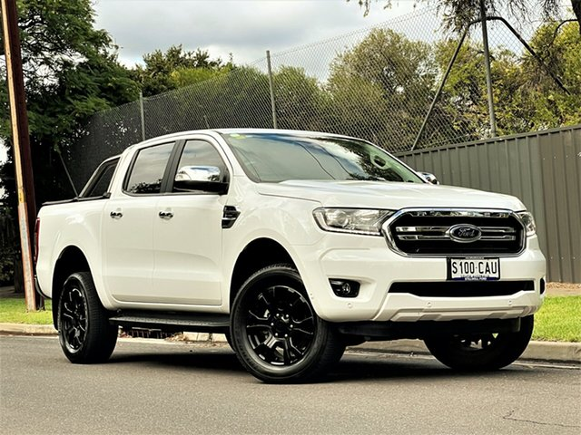 Used Ford Ranger PX MkIII 2019.00MY XLT Hyde Park, 2019 Ford Ranger PX MkIII 2019.00MY XLT White 10 Speed Sports Automatic Super Cab Pick Up