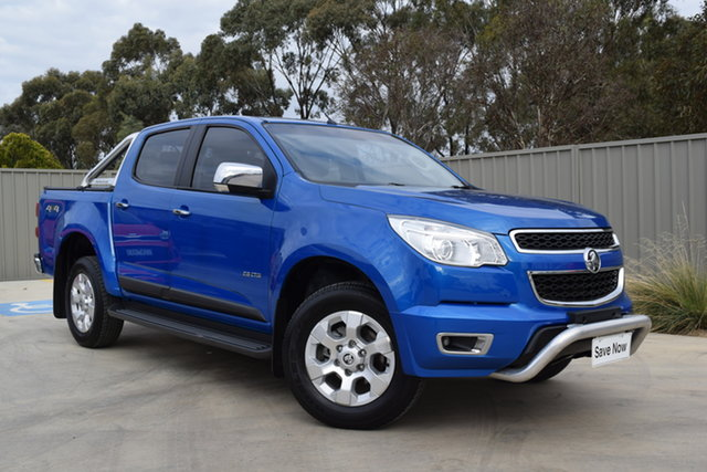 Used Holden Colorado RG MY14 LTZ Crew Cab Echuca, 2014 Holden Colorado RG MY14 LTZ Crew Cab Blue 6 Speed Manual Utility