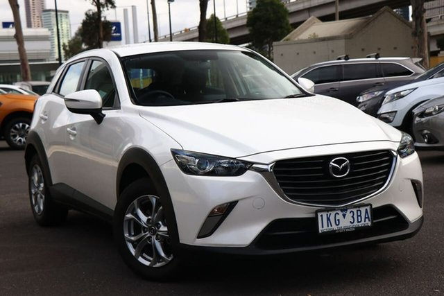 Used Mazda CX-3 DK2W7A Maxx SKYACTIV-Drive South Melbourne, 2017 Mazda CX-3 DK2W7A Maxx SKYACTIV-Drive Snowflake White Pearl 6 Speed Sports Automatic Wagon