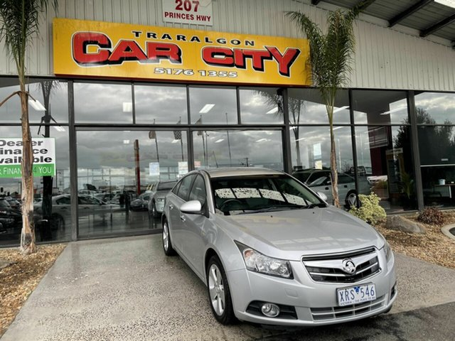 Used Holden Cruze JG CDX Traralgon, 2010 Holden Cruze JG CDX Silver 6 Speed Automatic Sedan