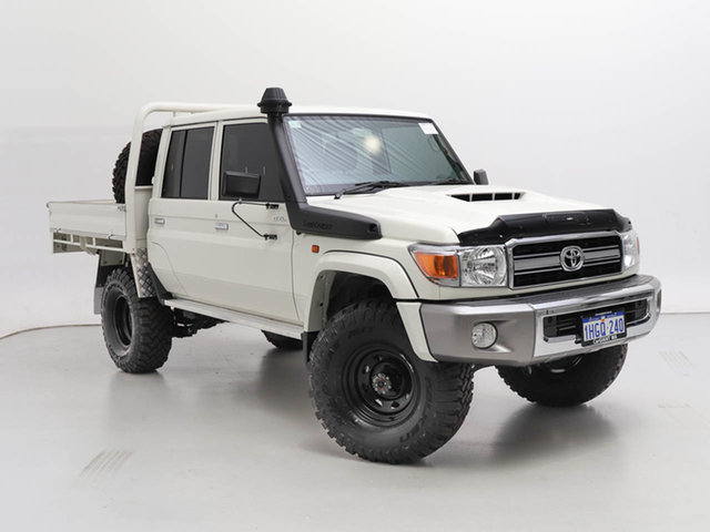 Used Toyota Landcruiser 70 Series VDJ79R GXL, 2020 Toyota Landcruiser 70 Series VDJ79R GXL White 5 Speed Manual Double Cab Chassis
