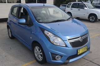 2014 Holden Barina Spark MJ MY14 CD Blue 4 Speed Automatic Hatchback.