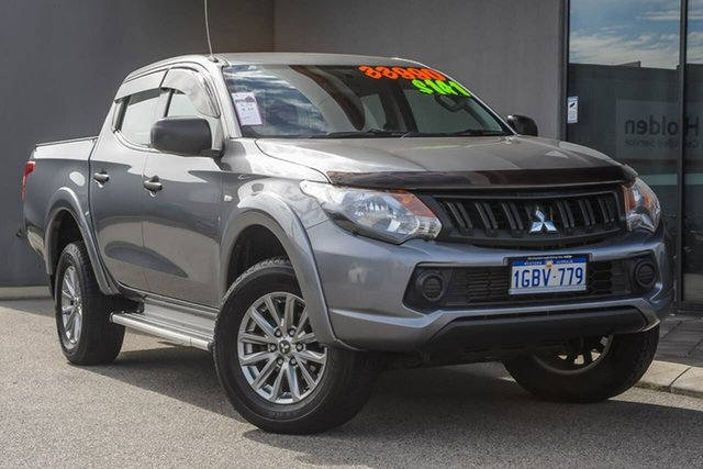 Used Mitsubishi Triton MQ MY17 GLX Double Cab Osborne Park, 2016 Mitsubishi Triton MQ MY17 GLX Double Cab Grey 6 Speed Manual Utility