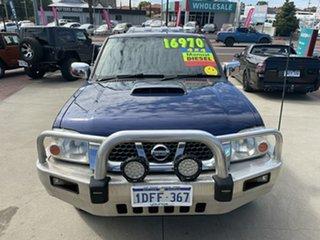 2010 Nissan Navara D22 MY2009 ST-R Blue 5 Speed Manual Utility.