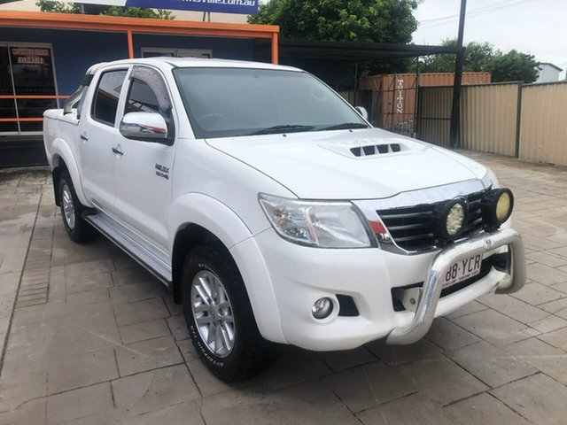 Used Toyota Hilux KUN26R MY14 SR5 Double Cab Mundingburra, 2015 Toyota Hilux KUN26R MY14 SR5 Double Cab White 5 Speed Automatic Utility