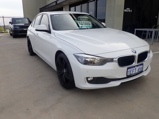 Used BMW 318d F30 MY14 Luxury Line Wangara, 2013 BMW 318d F30 MY14 Luxury Line White 8 Speed Automatic Sedan