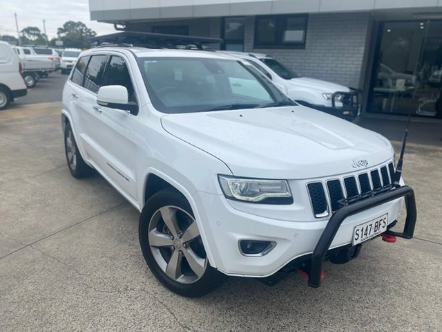 Used Jeep Grand Cherokee WK MY2014 Overland Hillcrest, 2013 Jeep Grand Cherokee WK MY2014 Overland White 8 Speed Sports Automatic Wagon