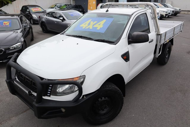 Used Ford Ranger PX XL Moorooka, 2014 Ford Ranger PX XL White 6 Speed Sports Automatic Cab Chassis