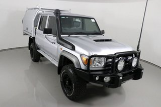 2019 Toyota Landcruiser VDJ79R GXL (4x4) Silver 5 Speed Manual Double Cab Chassis