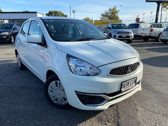 Used Mitsubishi Mirage LA MY18 ES Hillcrest, 2018 Mitsubishi Mirage LA MY18 ES White 1 Speed Constant Variable Hatchback