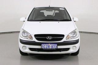 2008 Hyundai Getz TB Upgrade S White 5 Speed Manual Hatchback.