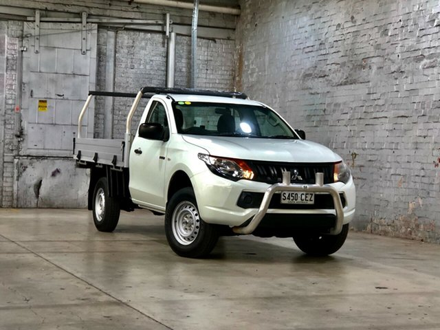 Used Mitsubishi Triton MQ MY17 GLX 4x2 Mile End South, 2017 Mitsubishi Triton MQ MY17 GLX 4x2 White 5 Speed Manual Cab Chassis